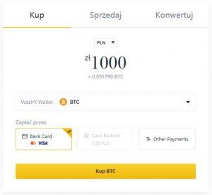 Binance zakup PLN z kartą VISA