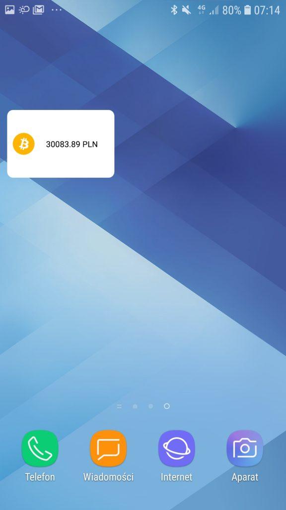 BitBay widget na pulpicie