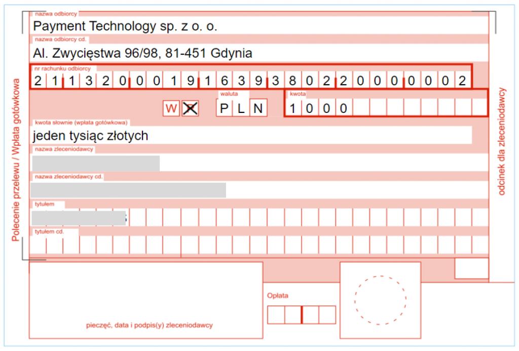 Jak wpłacić pieniądze - druk do wpłaty na Poczcie Polskiej