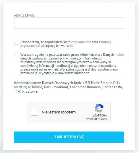 BitBay 2020 rejestracja adres email