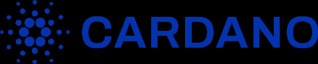 Logo kryptowaluty Cardano niebieskie